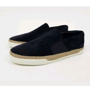 New Vince. Johan Suede Slip-On Sneakers